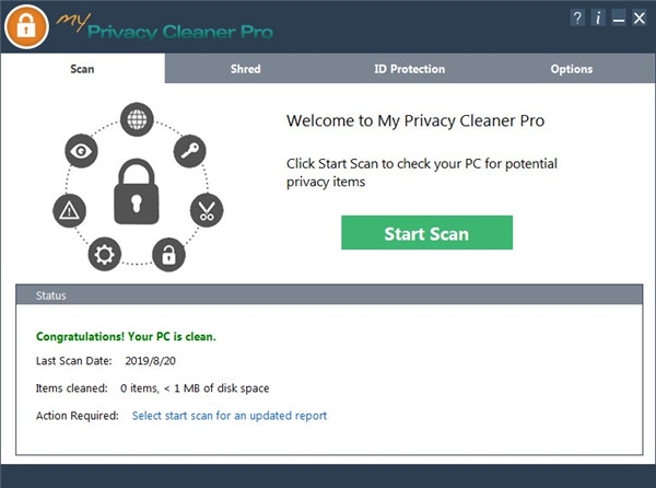 My Privacy Cleaner Pro (Internet Trace Eraser) Green Edition