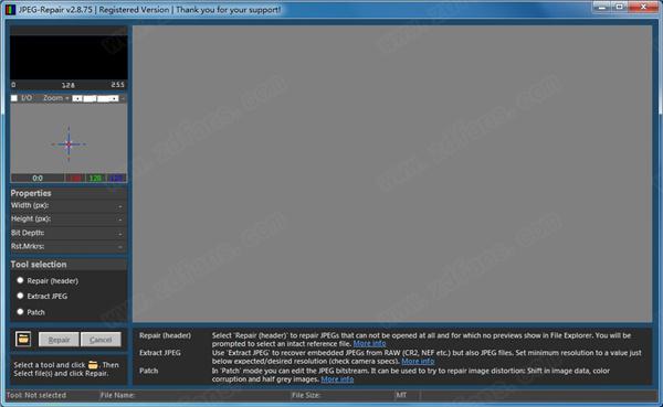 图片修复软件JpegRepair v2.8.75 绿色破解版