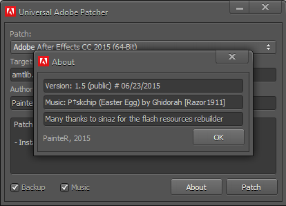 Adobe CC Patch2015